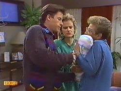 Mike Young, Daphne Clarke, Jamie Clarke, Eileen Clarke in Neighbours Episode 0556