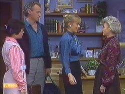 Lucy Robinson, Jim Robinson, Jane Harris, Helen Daniels in Neighbours Episode 0556