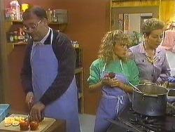 Harold Bishop, Charlene Mitchell, Eileen Clarke in Neighbours Episode 0557