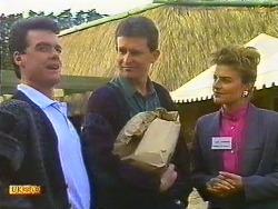 Paul Robinson, Des Clarke, Gail Robinson in Neighbours Episode 0558