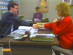 Paul Robinson, Gail Robinson, Madge Bishop in Neighbours Episode 0559