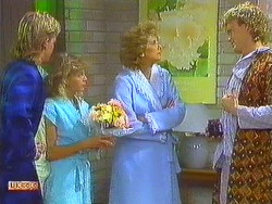 Scott Robinson, Charlene Mitchell, Madge Bishop, Henry Ramsay in Neighbours Episode 0559