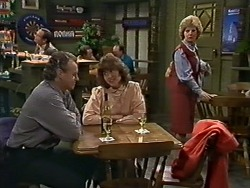 Jim Robinson, Beverly Marshall, Irate Woman in Neighbours Episode 0564