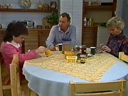 Lucy Robinson, Jim Robinson, Helen Daniels in Neighbours Episode 0565