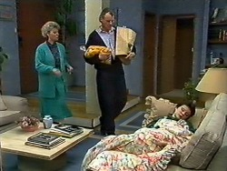 Helen Daniels, Jim Robinson, Lucy Robinson in Neighbours Episode 0565