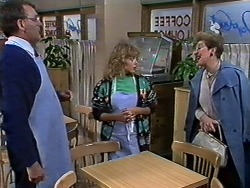 Harold Bishop, Charlene Mitchell, Eileen Clarke in Neighbours Episode 0567