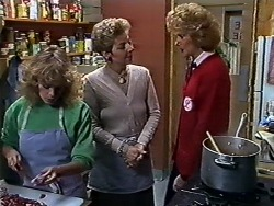 Charlene Mitchell, Eileen Clarke, Madge Bishop in Neighbours Episode 0567