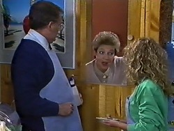 Harold Bishop, Eileen Clarke, Charlene Mitchell in Neighbours Episode 0567