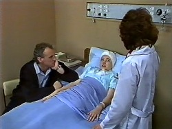 Jim Robinson, Lucy Robinson, Beverly Marshall in Neighbours Episode 0571