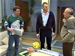 Paul Robinson, Jim Robinson, Rob Lewis in Neighbours Episode 0572