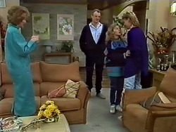Madge Bishop, Jim Robinson, Charlene Mitchell, Scott Robinson in Neighbours Episode 0572