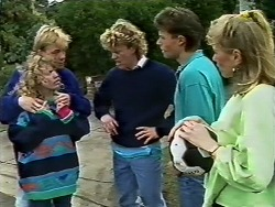 Charlene Robinson, Scott Robinson, Henry Ramsay, Mike Young, Jane Harris in Neighbours Episode 0573