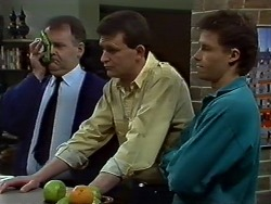 Harold Bishop, Des Clarke, Mike Young in Neighbours Episode 0573