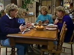 Henry Ramsay, Charlene Mitchell, Madge Bishop, Scott Robinson in Neighbours Episode 0573