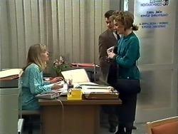 Jane Harris, Paul Robinson, Gail Robinson in Neighbours Episode 0574