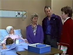 Lucy Robinson, Helen Daniels, Jim Robinson, Rick Hansen in Neighbours Episode 0575