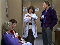 Helen Daniels, Rick Hansen, Beverly Marshall, Jim Robinson in Neighbours Episode 0575