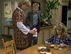 Henry Ramsay, Scott Robinson, Charlene Mitchell in Neighbours Episode 0580