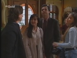 Darren Stark, Susan Kennedy, Karl Kennedy, Libby Kennedy in Neighbours Episode 2673
