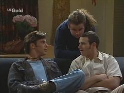 Malcolm Kennedy, Toadie Rebecchi, Stonie Rebecchi in Neighbours Episode 2674