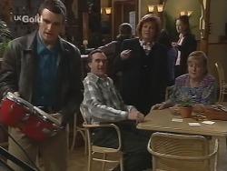 Stonie Rebecchi, Mick Anderson, Cheryl Stark, Angie Rebecchi in Neighbours Episode 2677