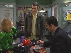 Danni Stark, Stonie Rebecchi, Steve George in Neighbours Episode 2684