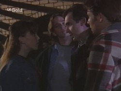 Libby Kennedy, Darren Stark, Karl Kennedy, Malcolm Kennedy in Neighbours Episode 2686