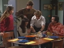 Libby Kennedy, Susan Kennedy, Malcolm Kennedy, Billy Kennedy, Karl Kennedy in Neighbours Episode 2686