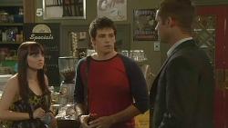 Summer Hoyland, Chris Pappas, Mark Brennan in Neighbours Episode 6138