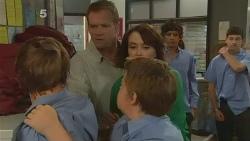 Dean Harman, Michael Williams, Libby Kennedy, Callum Jones in Neighbours Episode 6140