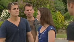 Kyle Canning, Lucas Fitzgerald, Kate Ramsay, Mark Brennan in Neighbours Episode 6144