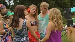 Summer Hoyland, Lisa Devine, Andrew Robinson, Natasha Williams in Neighbours Episode 6148