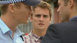 Constable Wes Holland, Kyle Canning, Mark Brennan in Neighbours Episode 6149