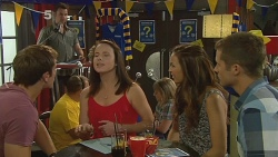 Kyle Canning, Kate Ramsay, Jade Mitchell, Mark Brennan in Neighbours Episode 6153