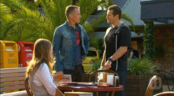Sonya Mitchell, Captain Troy Miller, Toadie Rebecchi in Neighbours Episode 6166