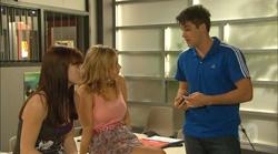 Summer Hoyland, Natasha Williams, Chris Pappas in Neighbours Episode 6166