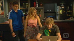 Chris Pappas, Natasha Williams, Andrew Robinson in Neighbours Episode 6166