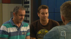 Karl Kennedy, Lucas Fitzgerald, Captain Troy Miller in Neighbours Episode 6166