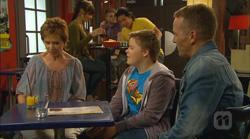 Susan Kennedy, Callum Jones, Captain Troy Miller in Neighbours Episode 6166