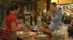 Kate Ramsay, Sophie Ramsay, Mark Brennan in Neighbours Episode 6169