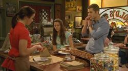 Kate Ramsay, Sophie Ramsay, Mark Brennan in Neighbours Episode 6169
