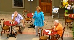 Harold Bishop, Carolyn Johnston, Lou Carpenter in Neighbours Episode 6172