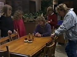 Jane Harris, Charlene Robinson, Henry Ramsay, Madge Ramsay, Scott Robinson in Neighbours Episode 0582