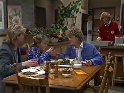 Scott Robinson, Charlene Robinson, Henry Ramsay, Madge Ramsay in Neighbours Episode 0582