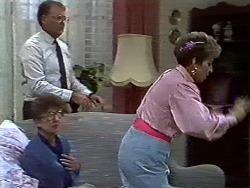 Nell Mangel, Harold Bishop, Eileen Clarke in Neighbours Episode 0582