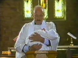 Reverend Sampson, Jamie Clarke in Neighbours Episode 0585