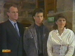 Jim Robinson, Mike Young, Beverly Marshall in Neighbours Episode 0585