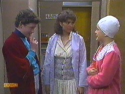 Rick Hansen, Beverly Marshall, Lucy Robinson in Neighbours Episode 0585