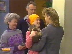 Helen Daniels, Jim Robinson, Lucy Robinson, Scott Robinson in Neighbours Episode 0587