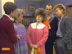 Nell Mangel, Helen Daniels, Lucy Robinson, Jim Robinson, Scott Robinson in Neighbours Episode 0587